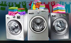 Lavadora que lava e seca